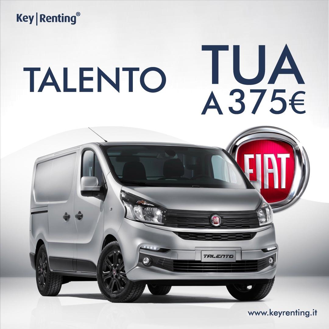 Key Renting, noleggio Furgone FIAT Talento tua a partire da 375 €