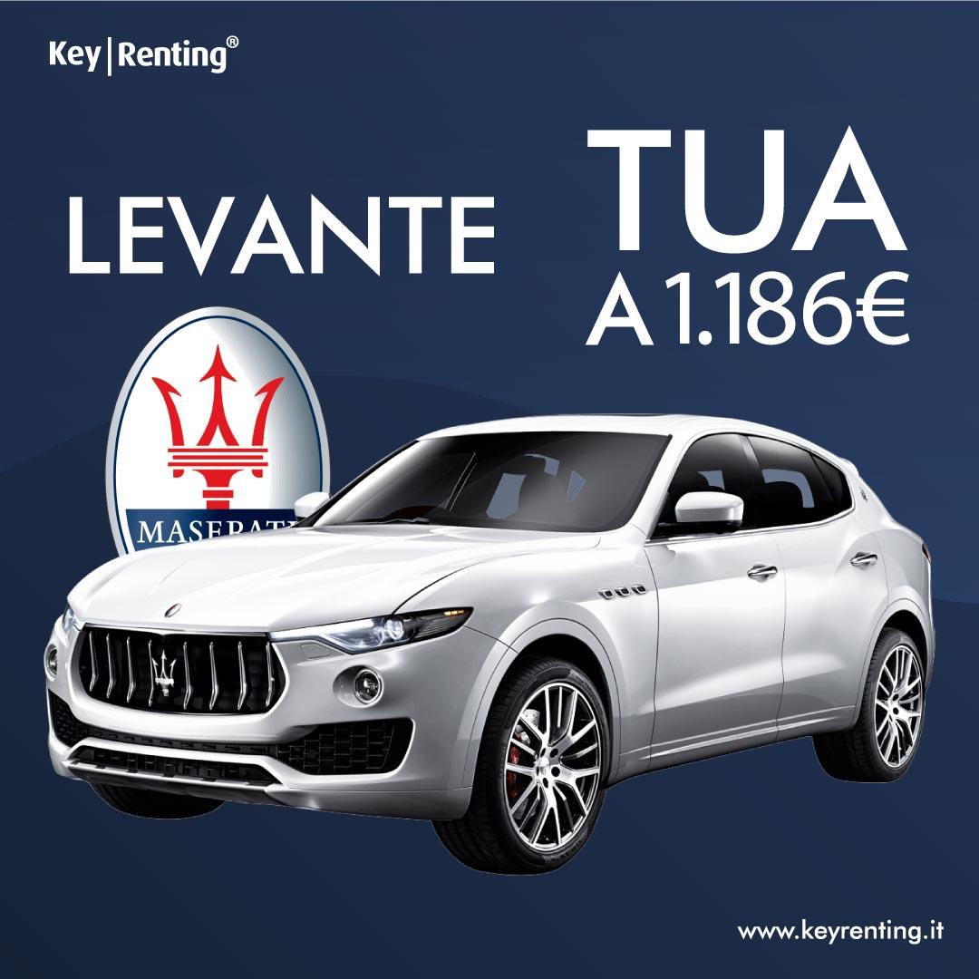 Key Renting, noleggio Maserati Levante tua a partire da 1.186 €