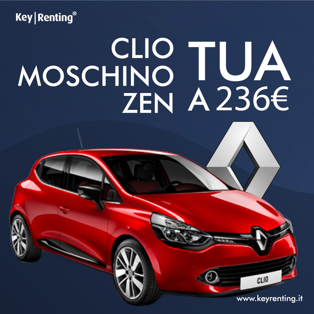 Noleggio Renault Clio 1.5 Dci 75cv Moschino Zen
