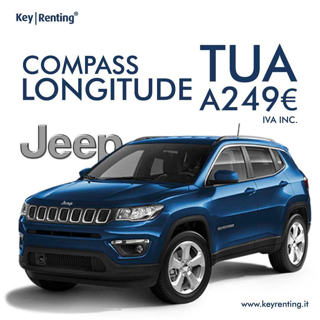 JEEP MILES - PAY PER USE - COMPASS IN AUTO NOLEGGIO NUOVA OFFERTA