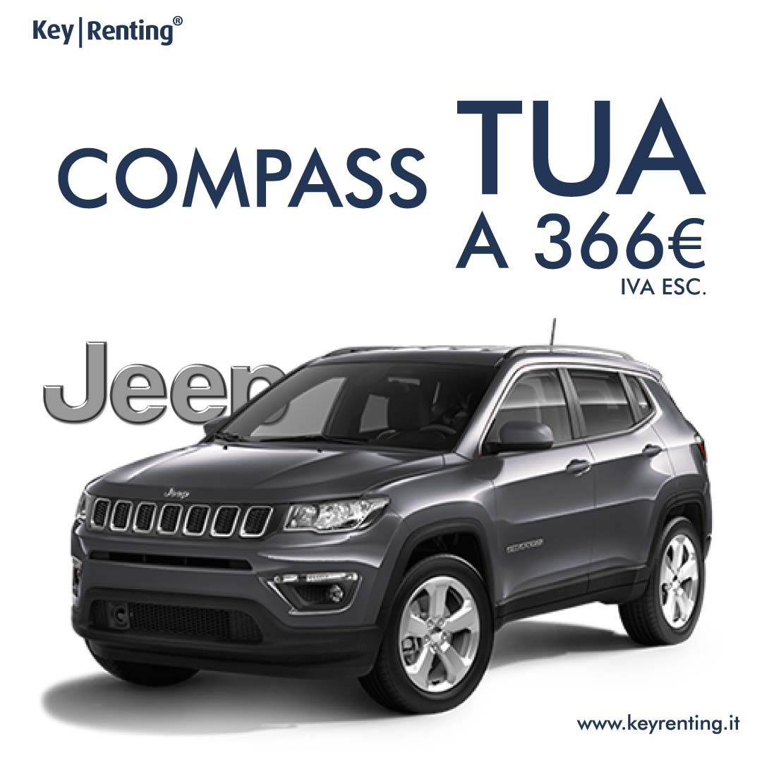 Key renting jeep compass noleggio lungo termine offerta