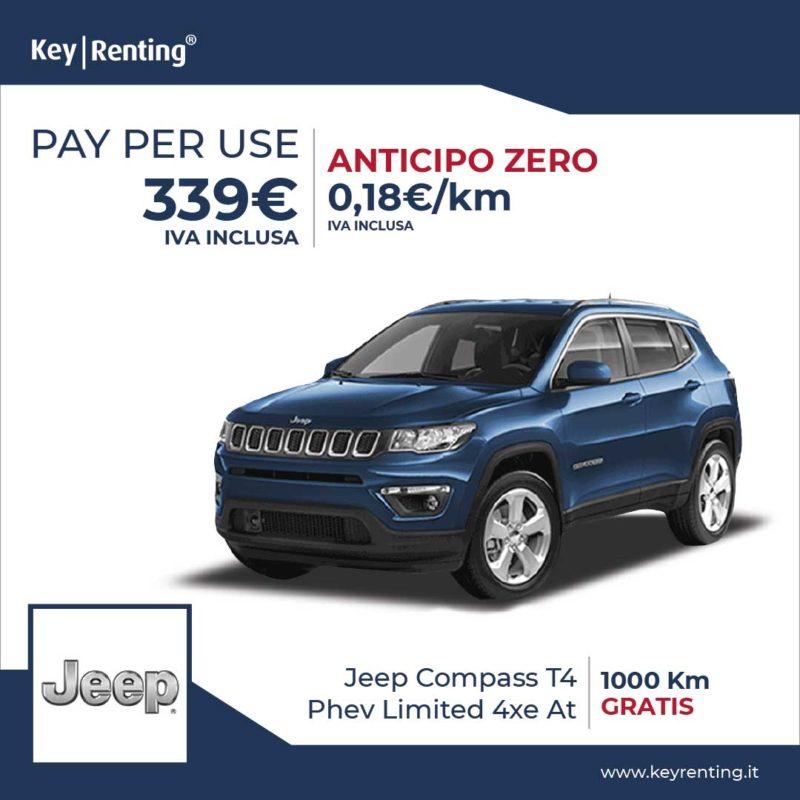 Offerta noleggio Pay per Use Jeep Compass