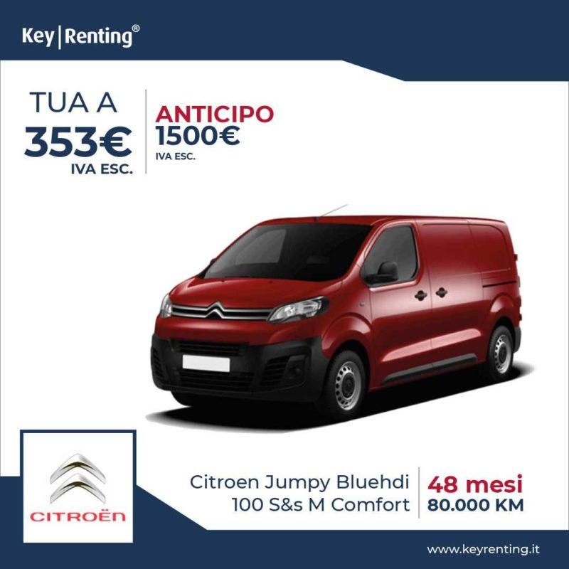 Offerta noleggio veicoli commerciali Citroen Jumpy